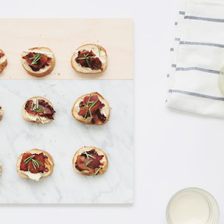 Bacon, Fig & Brie Crostini
