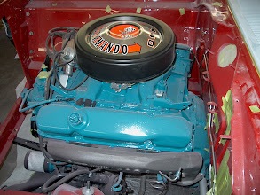 Photo: 1968 Plymouth GTX 440 Commando engine installed getting dusty during body work