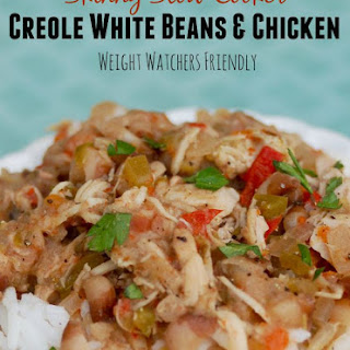 Skinny Slow Cooker Creole White Beans with Chicken