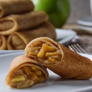 CARAMELIZED APPLE & CREAM CHEESE CREPE ROLL UPS
