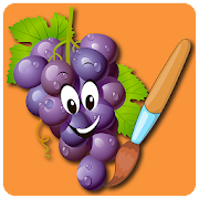 Fruit Vegetables Coloring Book