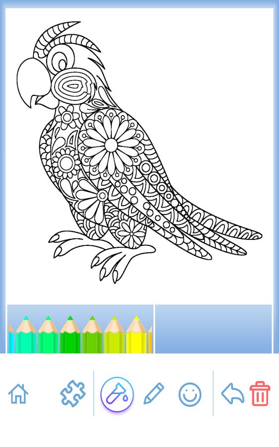 Coloring Book Animal Mandala