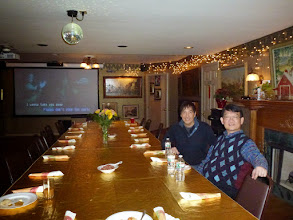Photo: At the Thanksgiving party