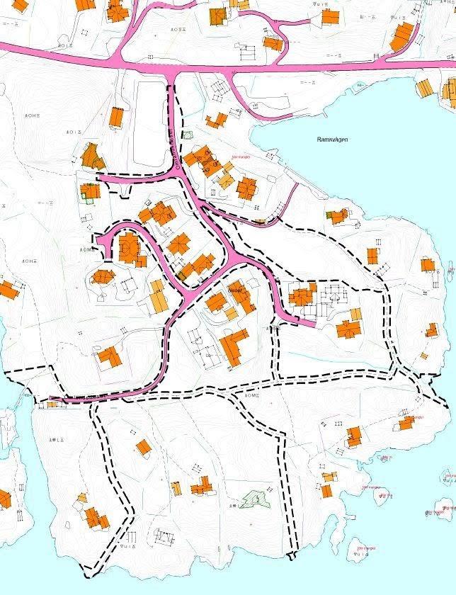 Kart over Omlandsneset