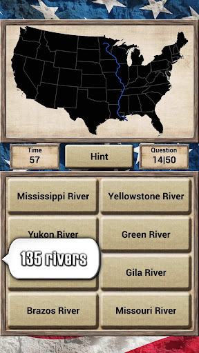 Screenshot for USA Geography - Quiz Game in United States Play Store