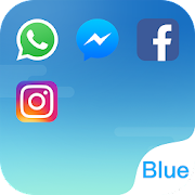 App Dual Space - Multi Accounts & Fresh Blue Theme APK for Windows Phone