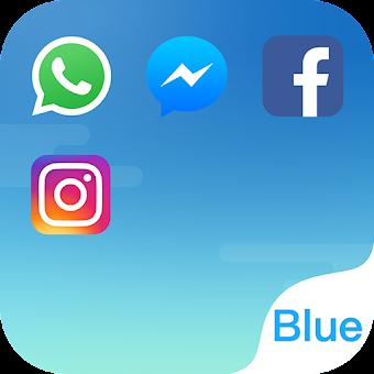 Dual Space - Multi Accounts & Fresh Blue Theme