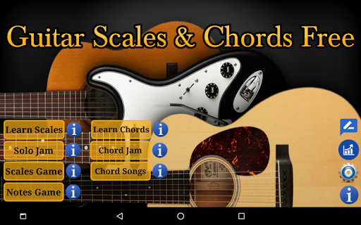 Guitar Scales & Chords Free Added Sustain option screenshots 9
