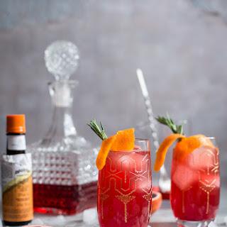 Blood Orange Campari Gin Fizz.