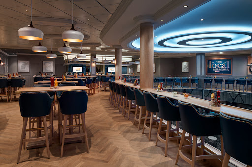 Pull up a stool with some friends at the Local Bar and Grill on Norwegian Encore.