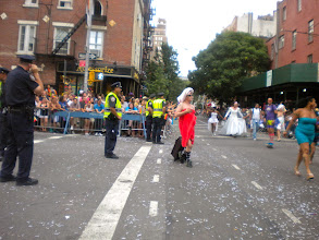Photo: The Heritage of Pride gay pride march, Christopher Street and Bleecker Street, Greenwich Village, 26 June 2011. (Photograph by Elyaqim Mosheh Adam.)