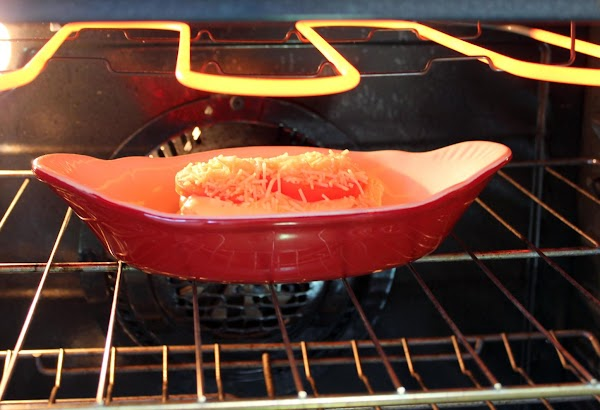 Place under preheated broiler, until sauce begins to bubble.