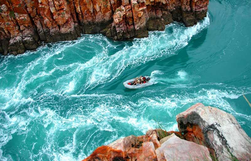 Image result for horizontal falls as tide comes in photo