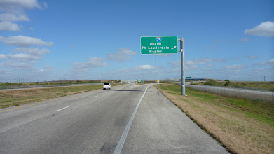 """Photo: After about 25 miles Hwy 27 intersects with I75, the """"alligator alley"""""""