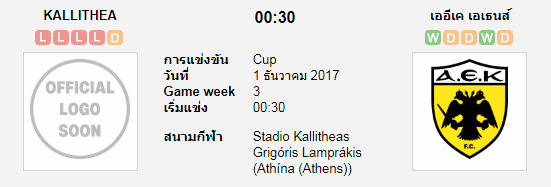 วิเคราะห์บอล คาลิเทีย VS เออีเค เอเธนส์ [กรีซ คัพ] 7M