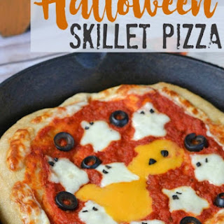 Halloween Ghost Skillet Pizza