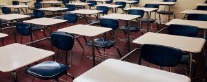 desk, classroom, school