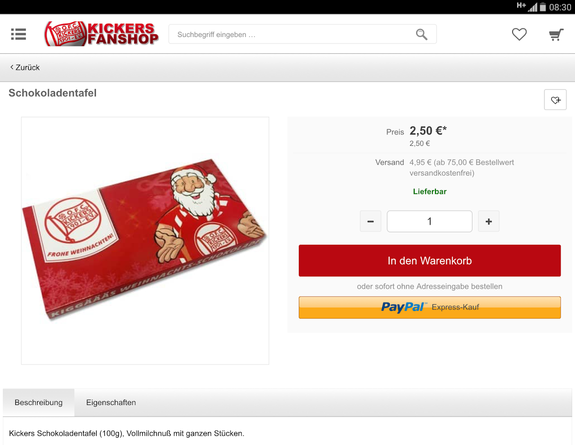 Kickers Fanshop- screenshot