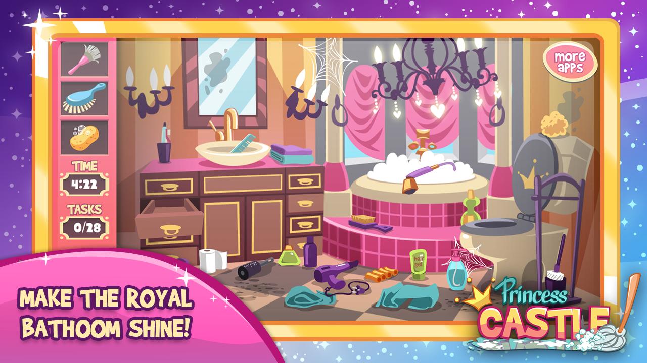 Clean up bathroom games - Princess Room Cleanup Games Screenshot