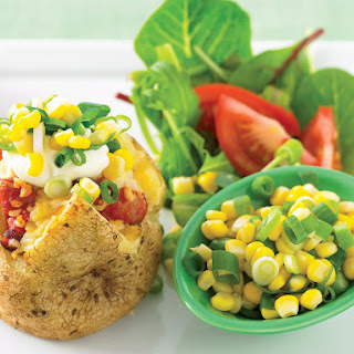 Baked Potatoes with Beans and Corn
