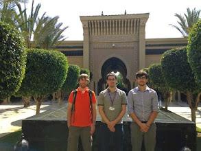 Photo: Tom, Matt and Evan outside the Magazan resort