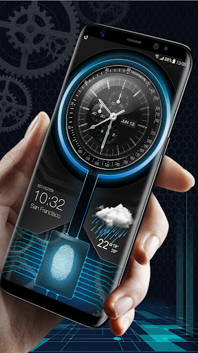 Fingerprint Lock with Analog Clock Prank  screenshots 2