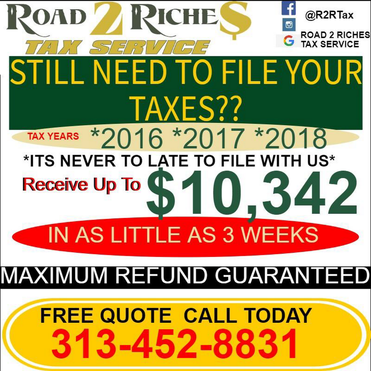 Road 2 Riches Tax Service - Tax Preparation Service
