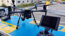 Dron utilizado por la Dirección General de Tráfico.