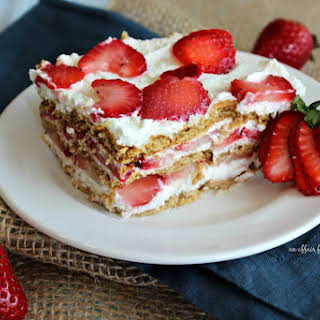 Old Fashioned Strawberry Icebox Cake.