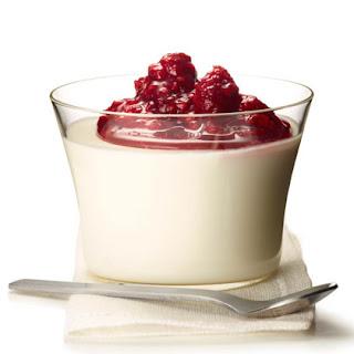 Yogurt Panna Cotta with Raspberry Compote