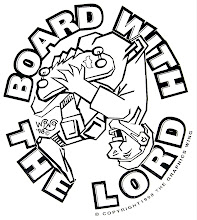 Photo: At one time, our church had an outreach to neighborhood skateboarders, so I designed this to go on tee shirts. Of course no one asked me to, and I later found out no-one would have worn it either, as most of them weren't Christian, and many of them had no other agenda than skating at the part.