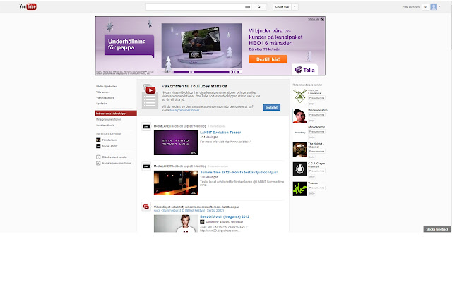 Center that Youtube!