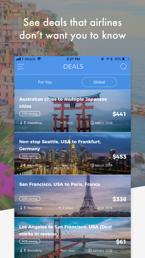 Secret Travel - Save up to 80% on worldwide travel- screenshot