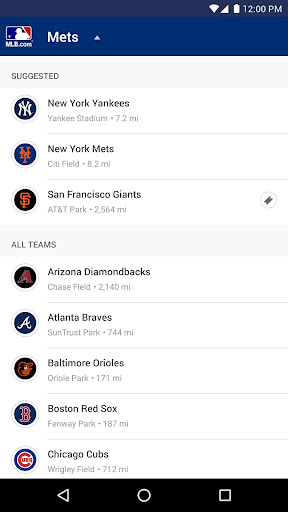MLB.com Ballpark Screenshot