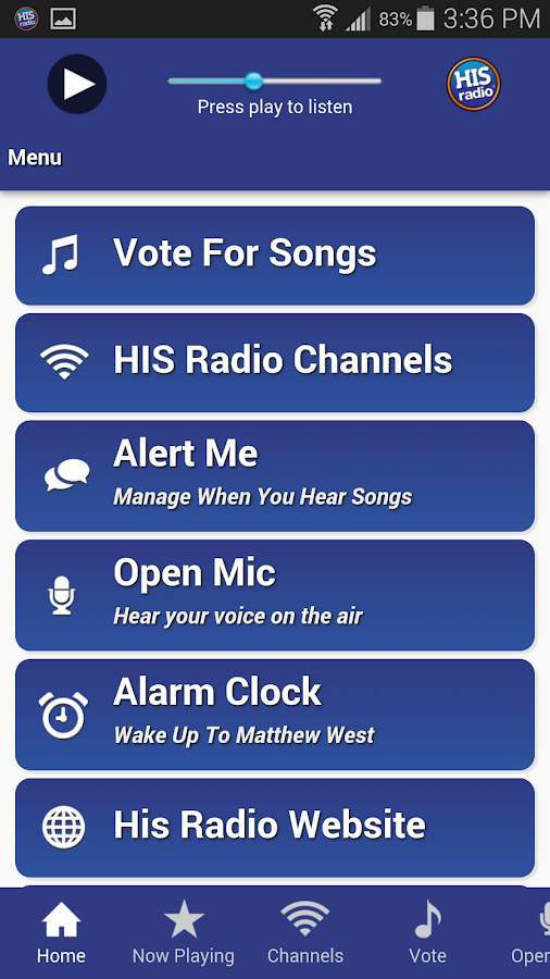 His Radio- screenshot