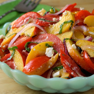 Tomato, Peach and Feta Salad Recipe