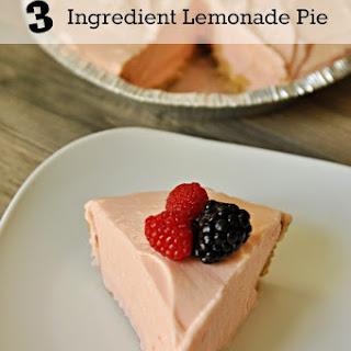 3 Ingredient Berry Lemonade Pie