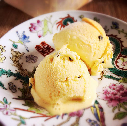 passion fruit, ice cream, fruit, summer, recipe, homemade, no ice cream machine, 百香果,冰淇淋