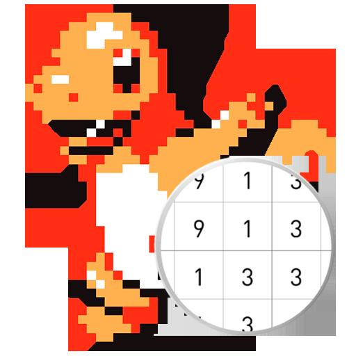 pokepix cor por número - coloração pixel art