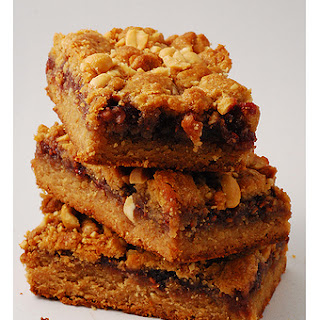 Peanut Butter Jelly Time Bars