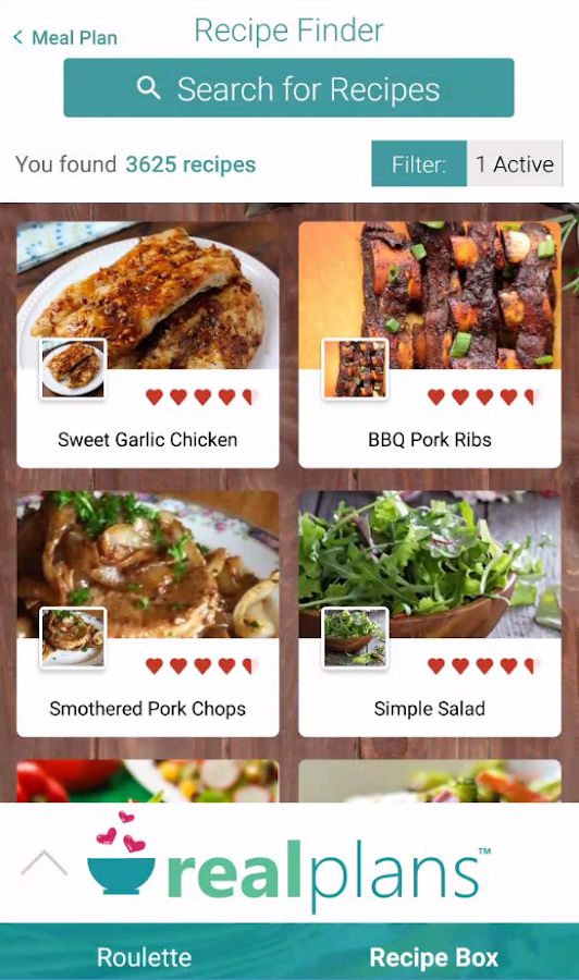 Real plans meal planner and shopping list android apps on real plans meal planner and shopping list screenshot forumfinder Image collections