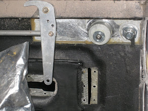 Photo: Hendricks Manufacturing Latch from the Inside.  Modifying Lever to accomodate throw and over-center