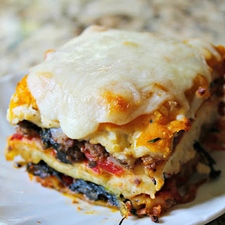 The Most Amazing Butternut Squash and Spinach Lasagna