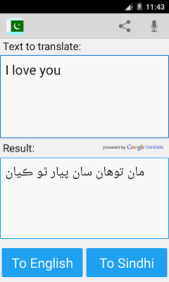 Sindhi English Translator - screenshot