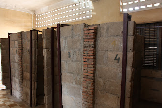 Photo: Year 2 Day 35 - The Individual Brick Cells in S-21 Prison