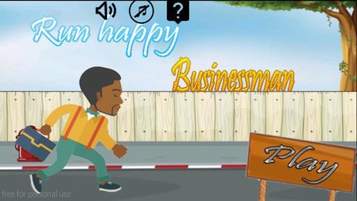 run happy businessman