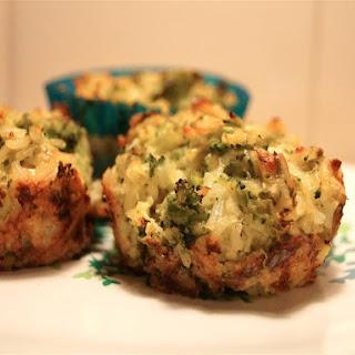 Broccoli Cheddar Rice Cups.