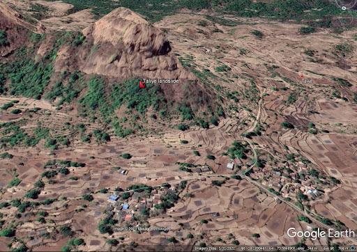 The disastrous Taliye village landslide in Maharashtra, India