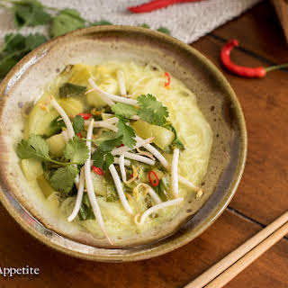 Coconut Bok Choy Soup with Vermicelli.
