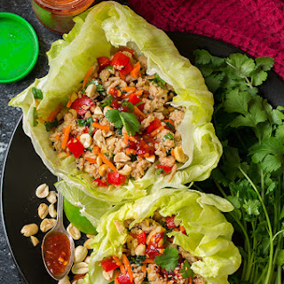 Thai Chicken Lettuce Wraps.